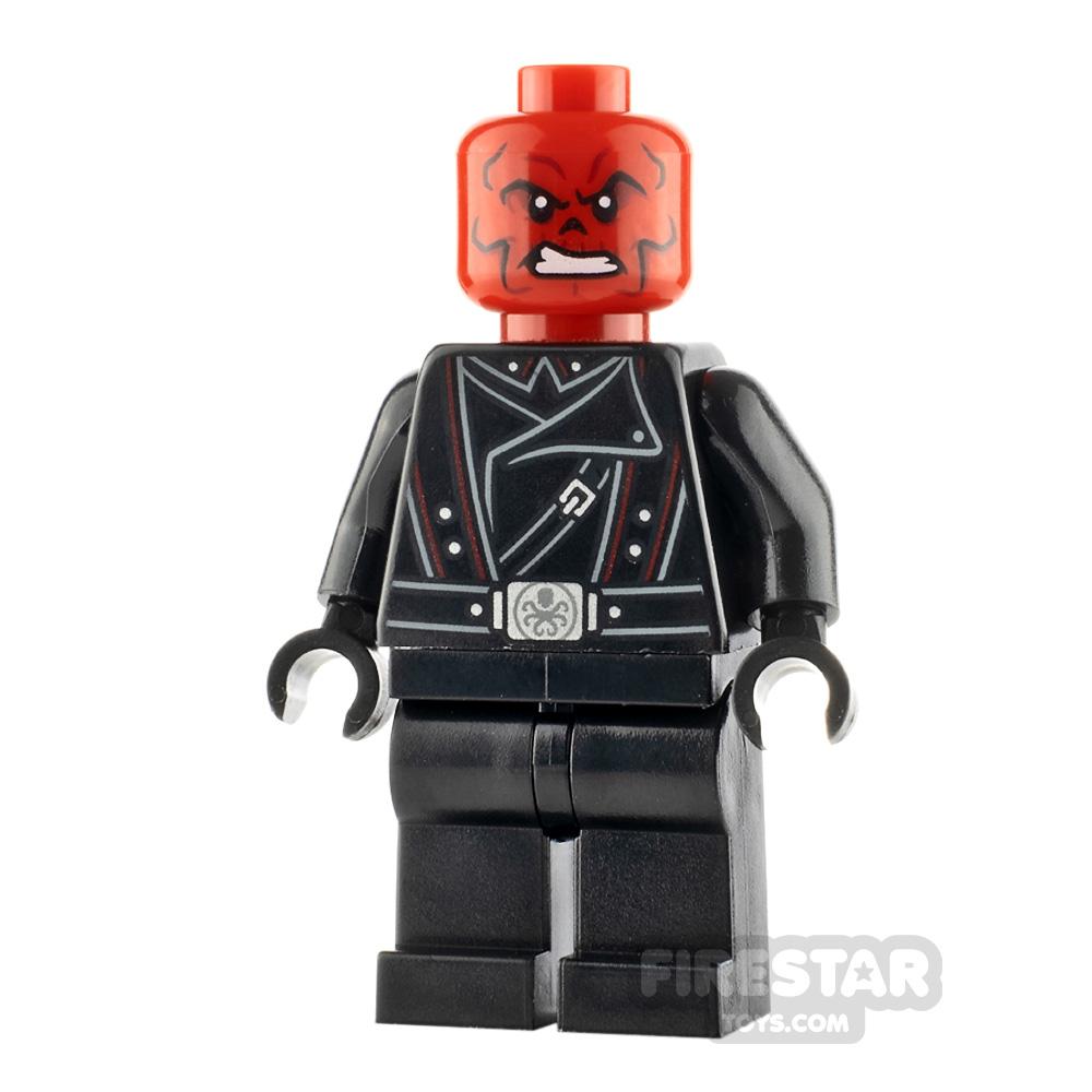 LEGO Super Heroes Minifigure Red Skull Black Belt