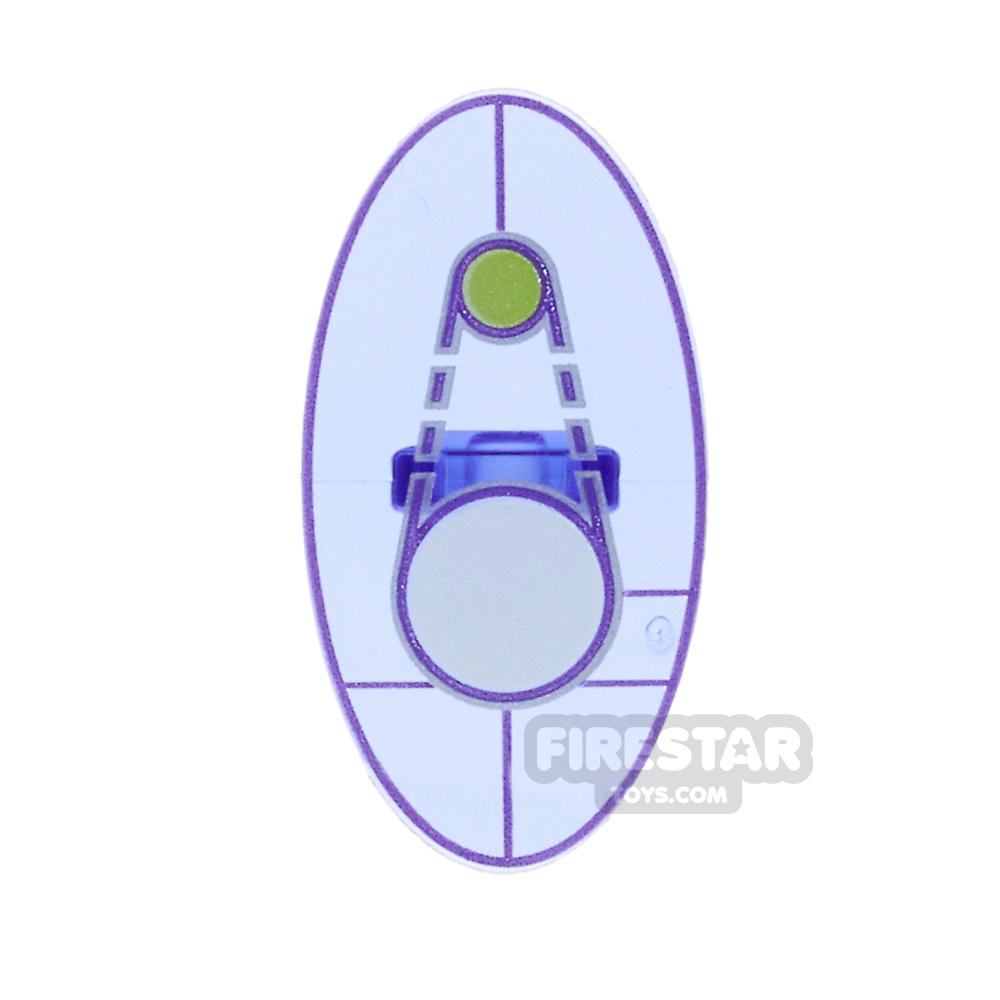 LEGO - Oval Shield with Dimensions Keystone Symbol- Design 1