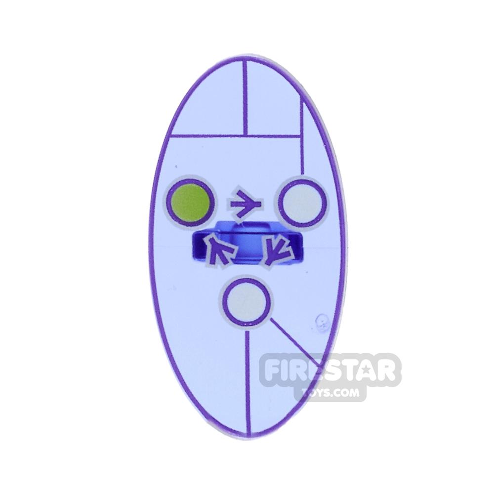 LEGO - Oval Shield with Dimensions Keystone Symbol- Design 2