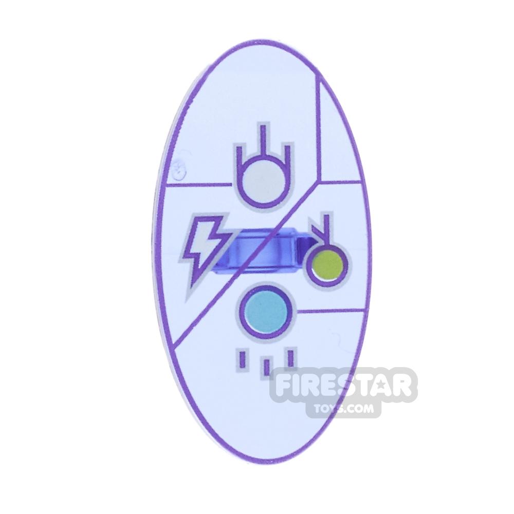 LEGO - Oval Shield with Dimensions Keystone Symbol Design 4