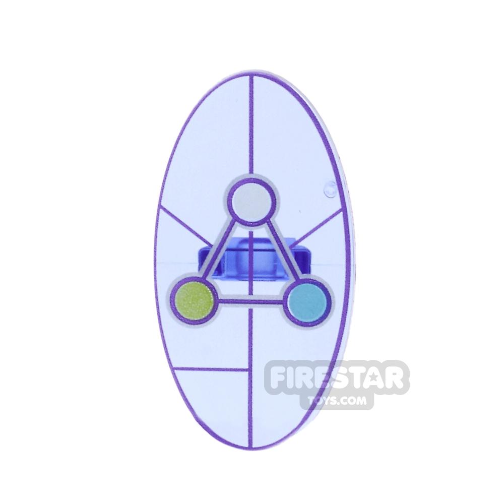 LEGO - Oval Shield with Dimensions Keystone Symbol Design 5