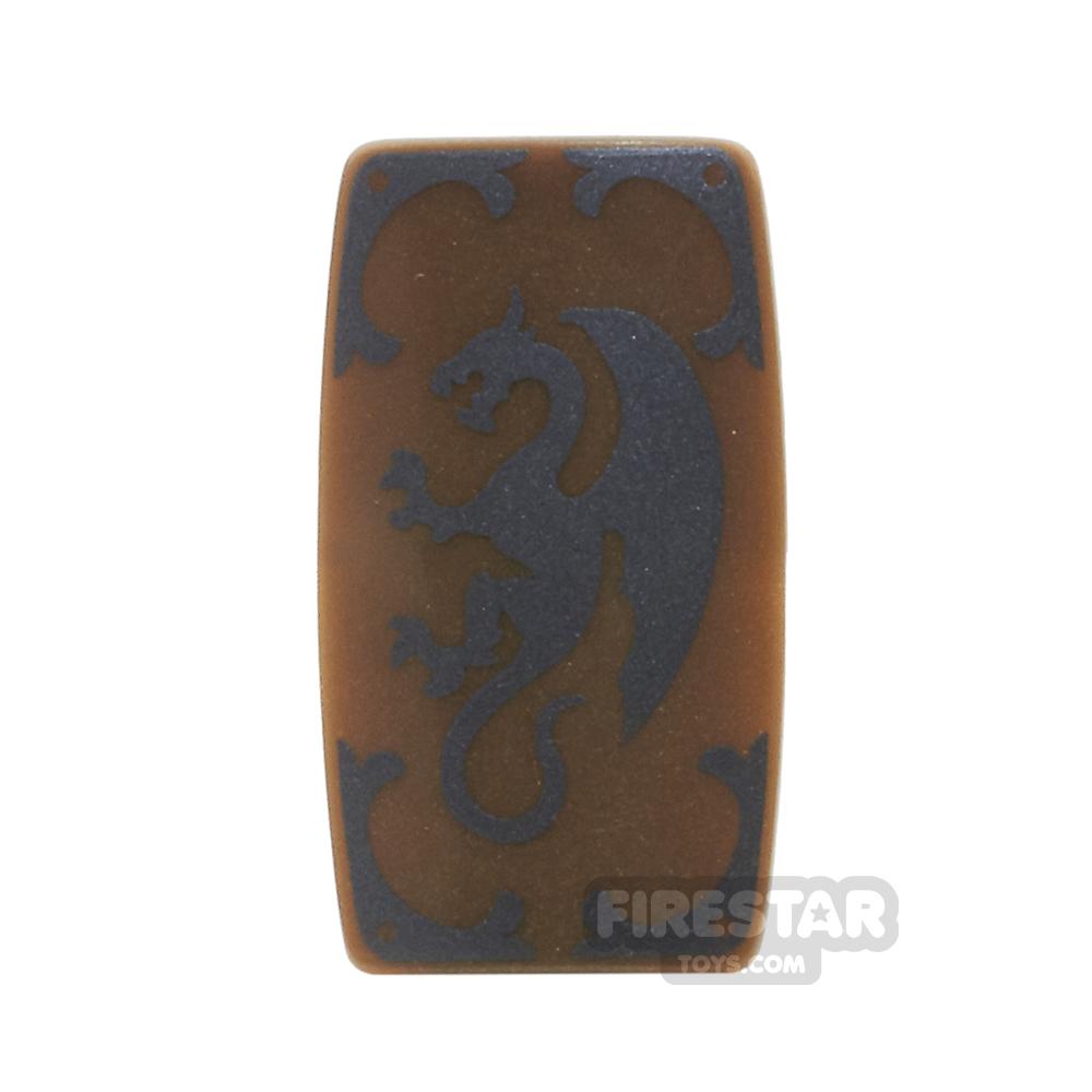 BrickForge - Military Shield - Medieval Dragon - Bronze