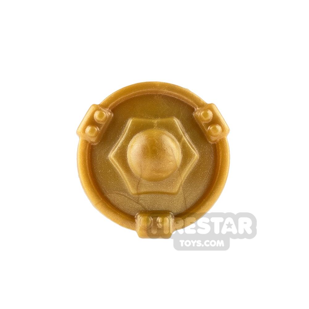 BrickWarriors - Buckler Shield - Pearl Gold