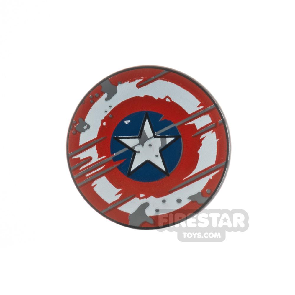 LEGO Captain America Shield Worn