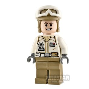 LEGO Star Wars Minifigure Hoth Rebel Trooper Open Mouth Smile