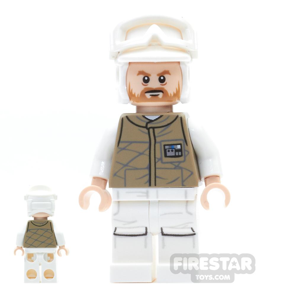 LEGO Star Wars Mini Figure -  Hoth Rebel Trooper - Dark Tan Uniform 2