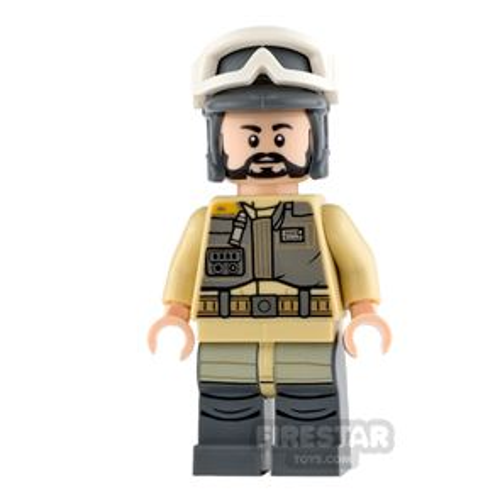 LEGO Star Wars Mini Figure - Rebel Trooper - Gray Helmet, Black Beard