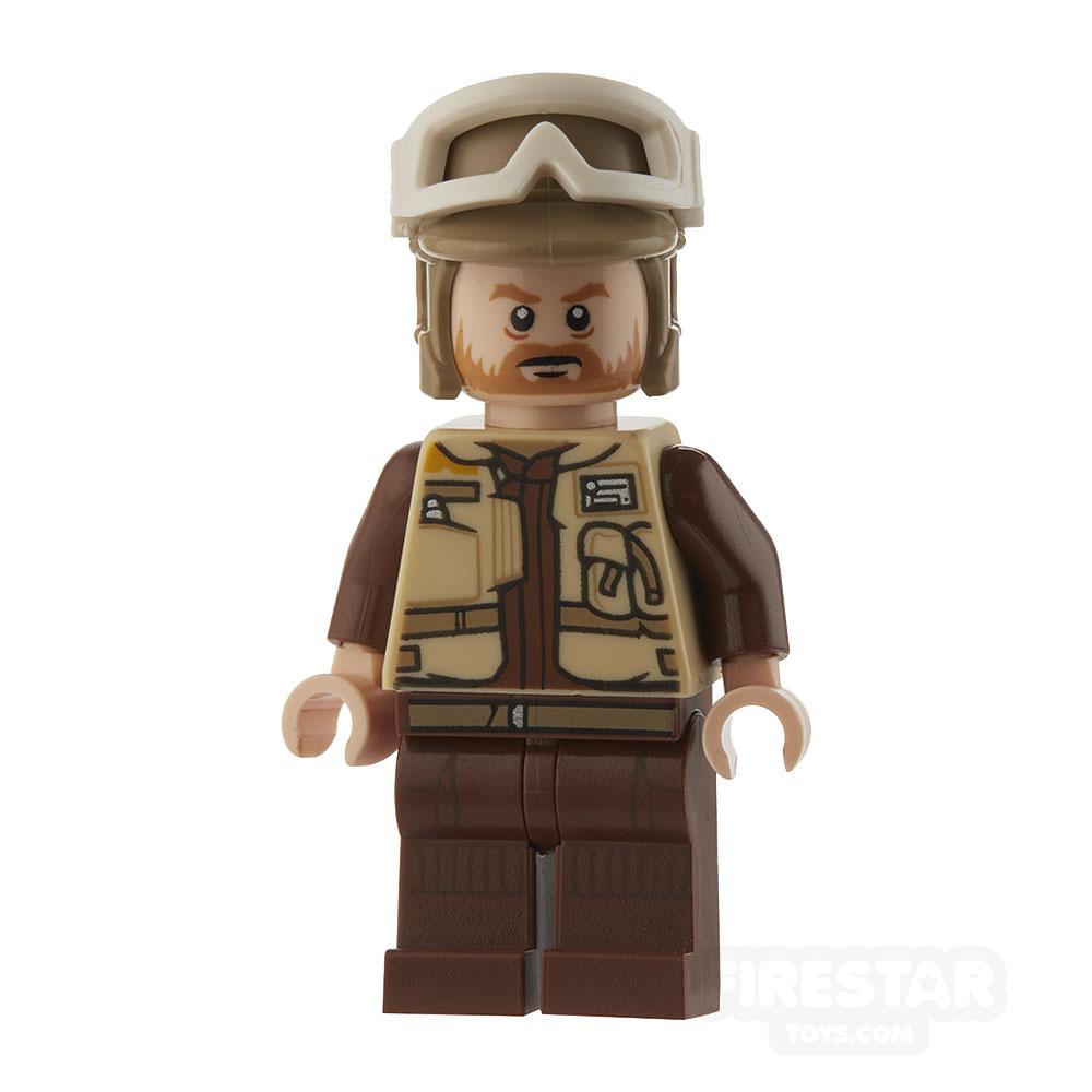 LEGO Star Wars Mini Figure - Rebel Trooper - Dark Tan Helmet, Brown Beard