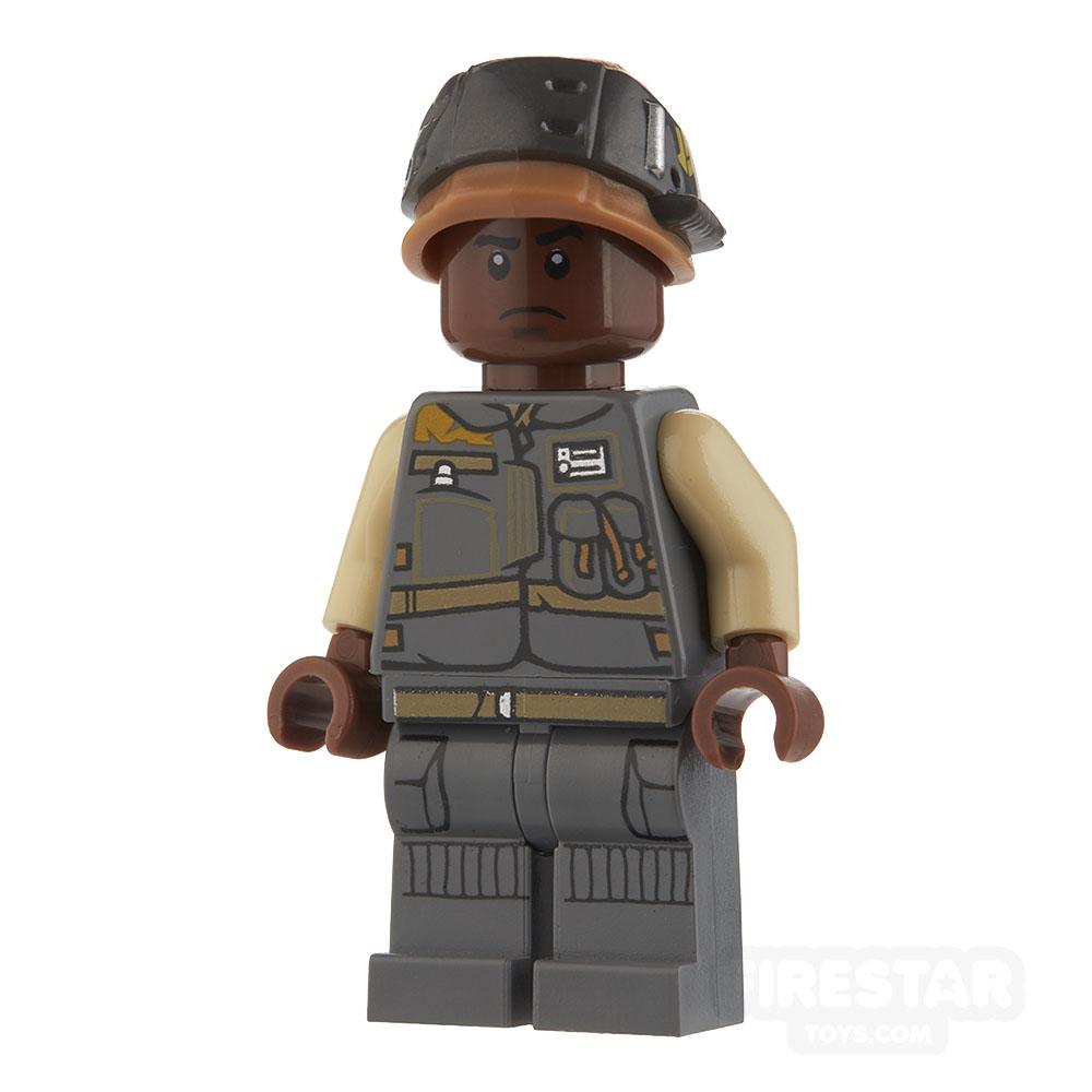 LEGO Star Wars Mini Figure - Rebel Trooper - Dark Blueish Gray Jacket with Pockets
