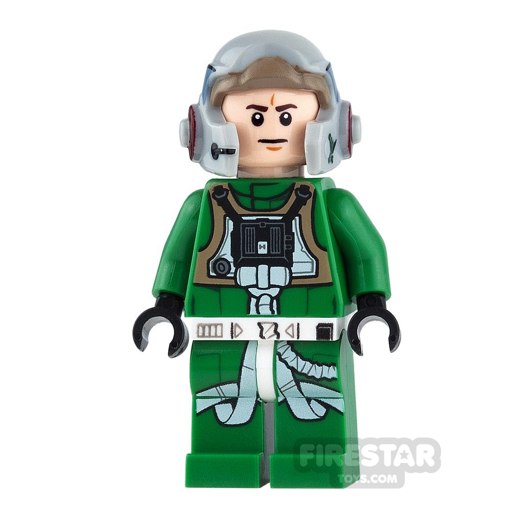LEGO Star Wars Mini Figure - A-Wing Pilot - Green