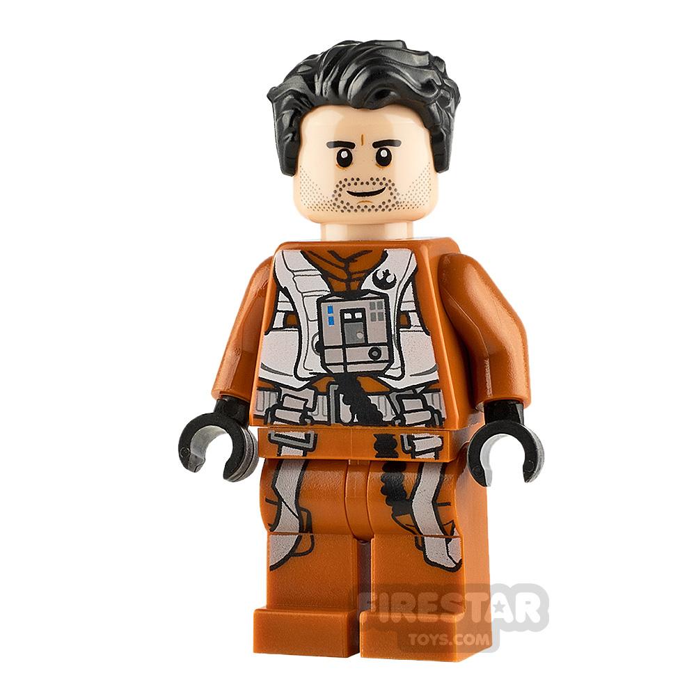LEGO Star Wars Minifigure Poe Dameron Jumpsuit and Hair