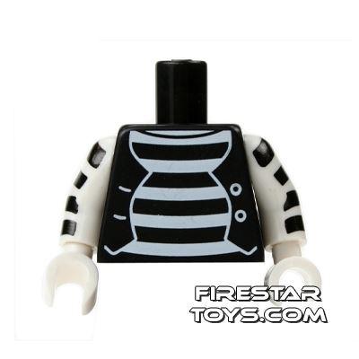 LEGO Mini Figure Torso - Mime Outfit