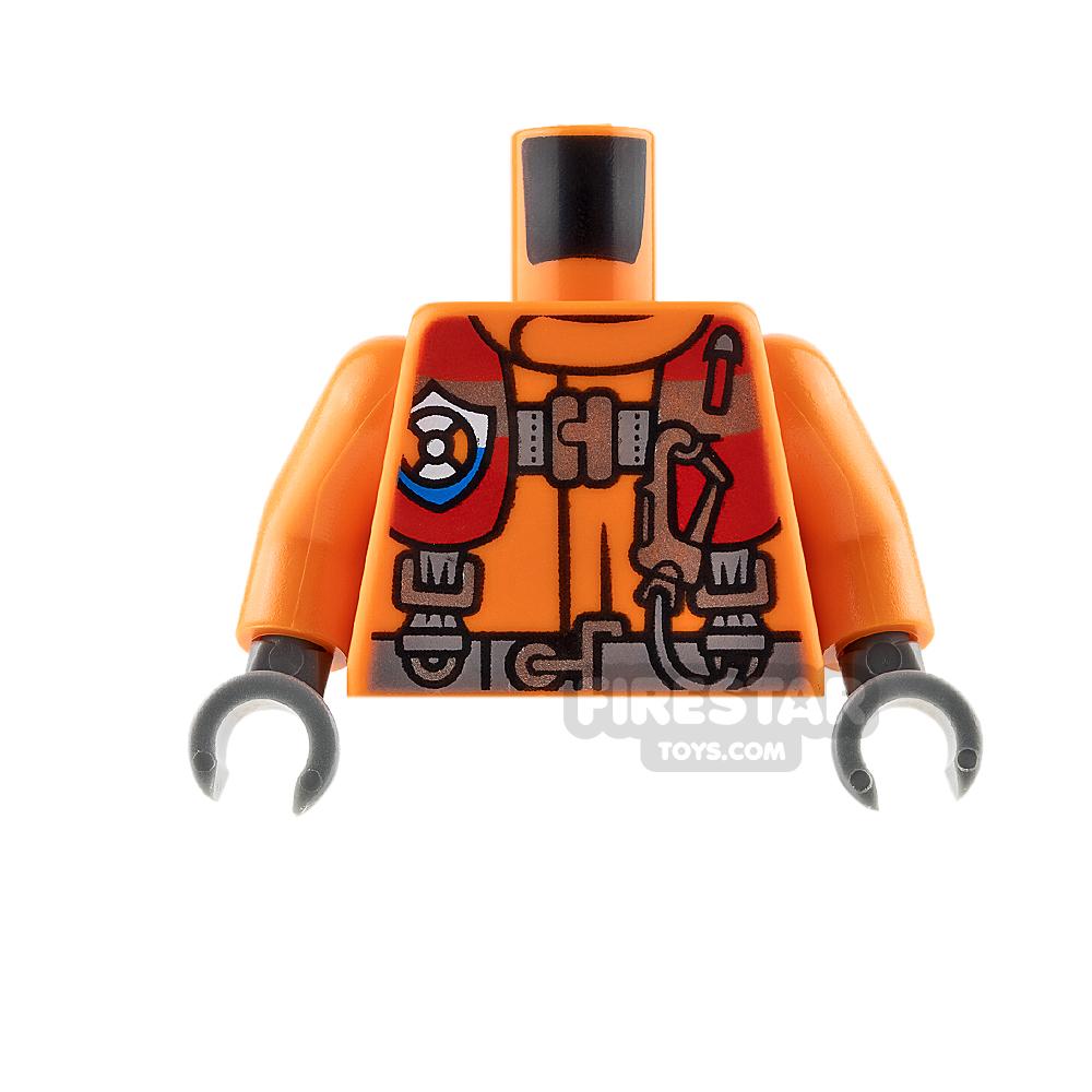 LEGO Mini Figure Torso - Coast Guard Jacket with Harness