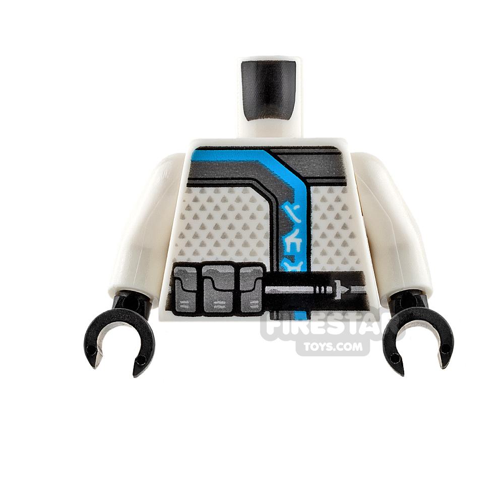 LEGO Mini Figure Torso - White Ninja Robe with Black Belt
