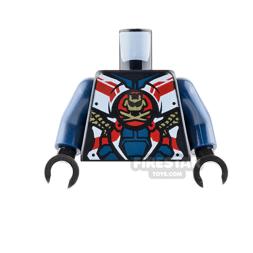LEGO Mini Figure Torso - Dark Blue Samurai Armour