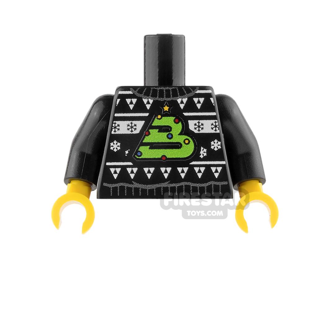Custom Design Torso - Christmas Jumper - Blacktron