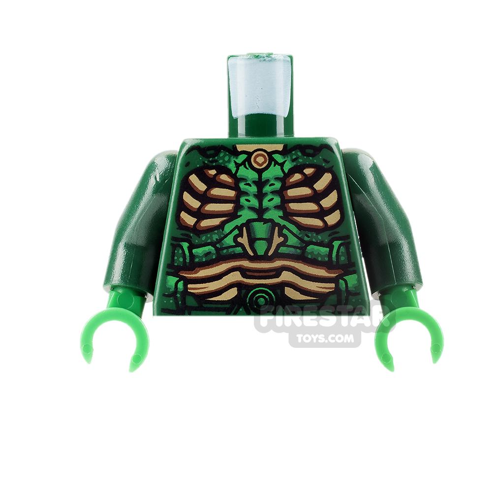 LEGO Mini Figure Torso - Parademon - Dark Green