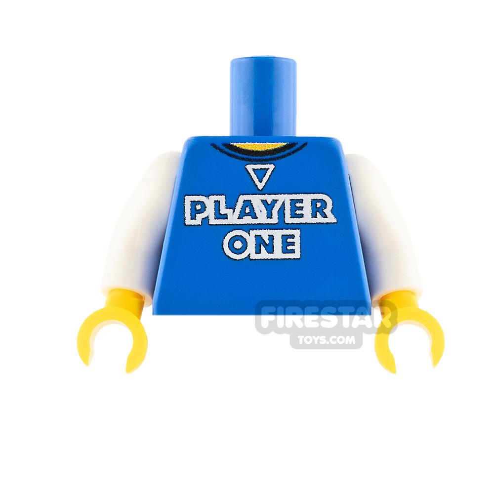Custom Design Torso - Player One - Blue with White Arms