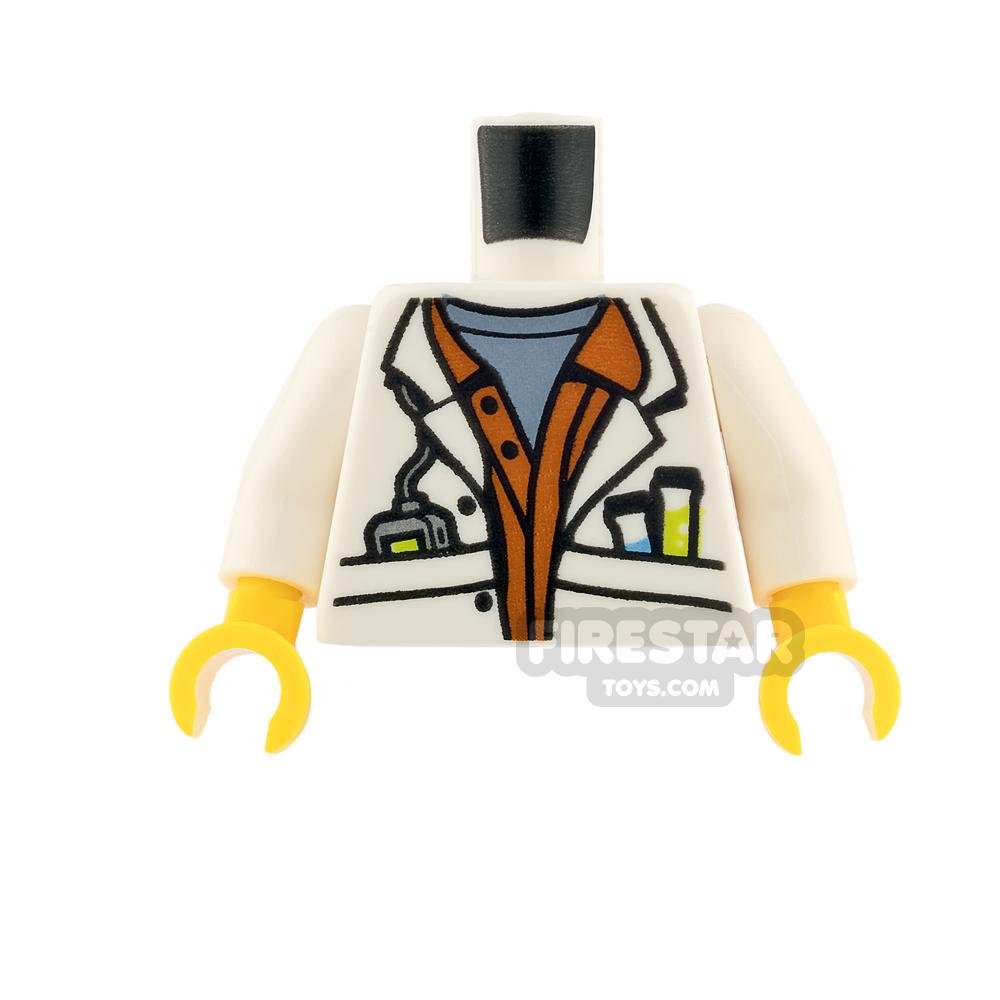 LEGO Mini Figure Torso - Scientist Lab Coat