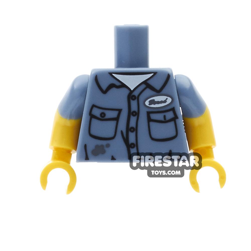 LEGO Mini Figure Torso - Janitor Uniform