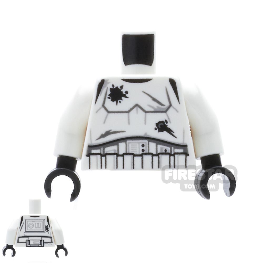 LEGO Mini Figure Torso - Stormtrooper Battle Damaged Armour