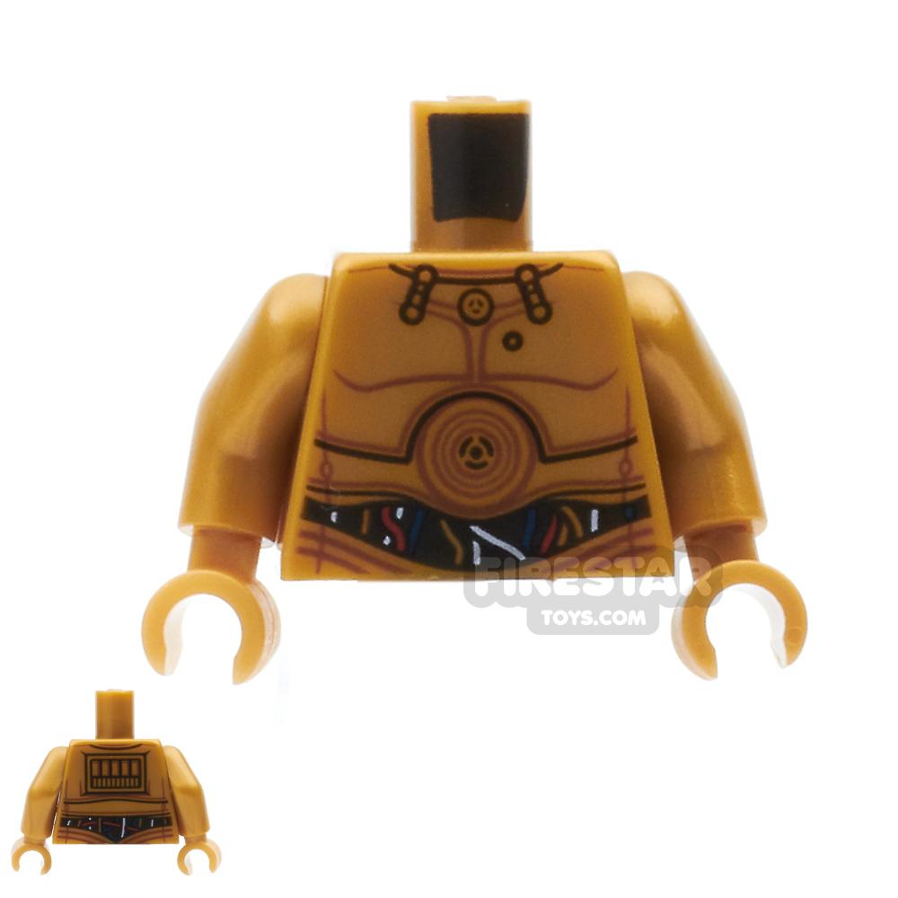 LEGO Mini Figure Torso - C-3PO with Wires