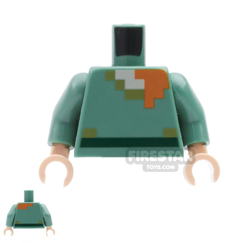 LEGO Mini Figure Torso - Minecraft Alex