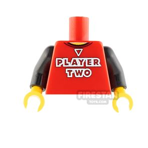 Custom Design Torso - Player Two - Red with Black Arms
