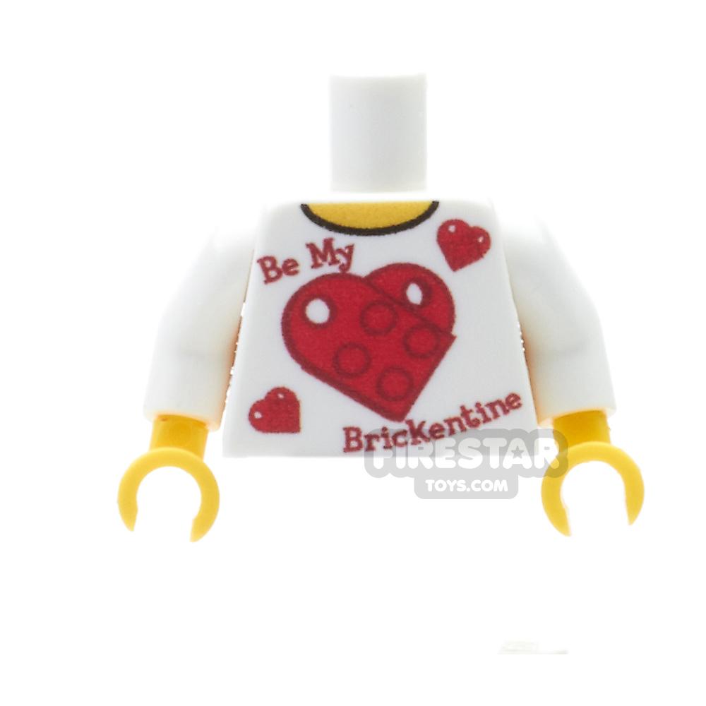 Custom Design Torso - Valentine's - Be My Brickentine