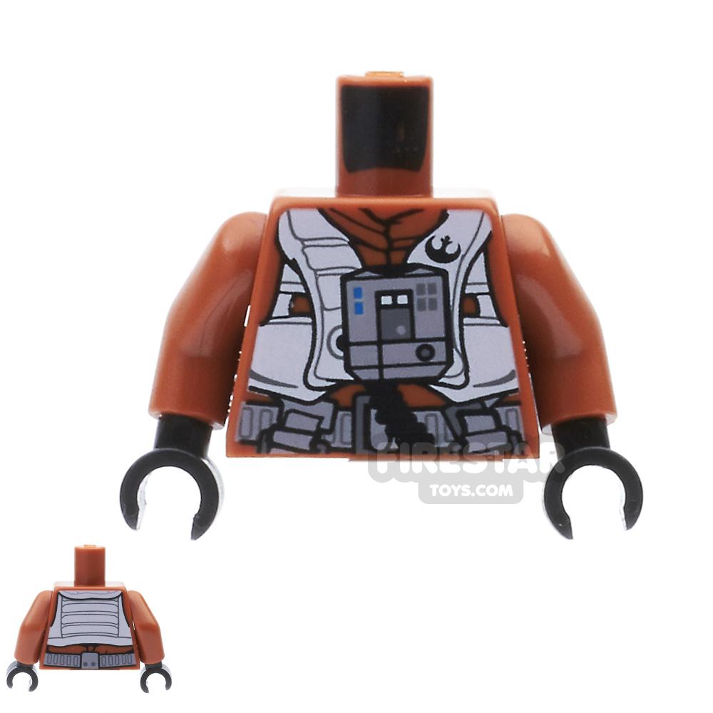 LEGO Mini Figure Torso - Resistance X-wing Pilot - Dark Orange
