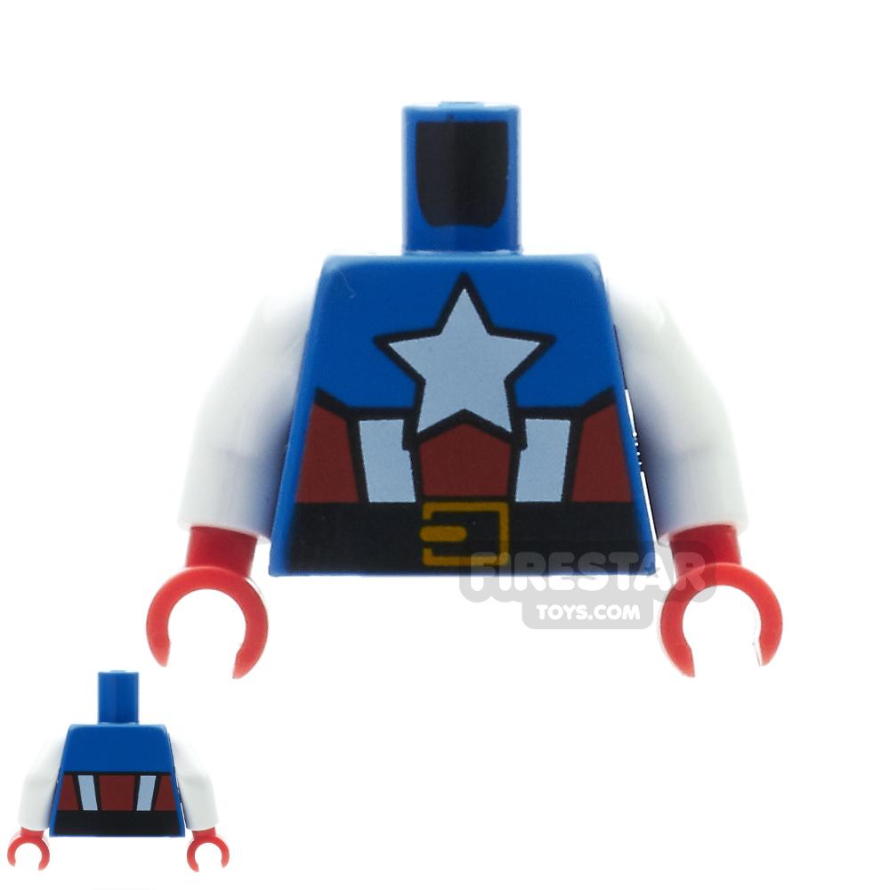 LEGO Mini Figure Torso - Captain America