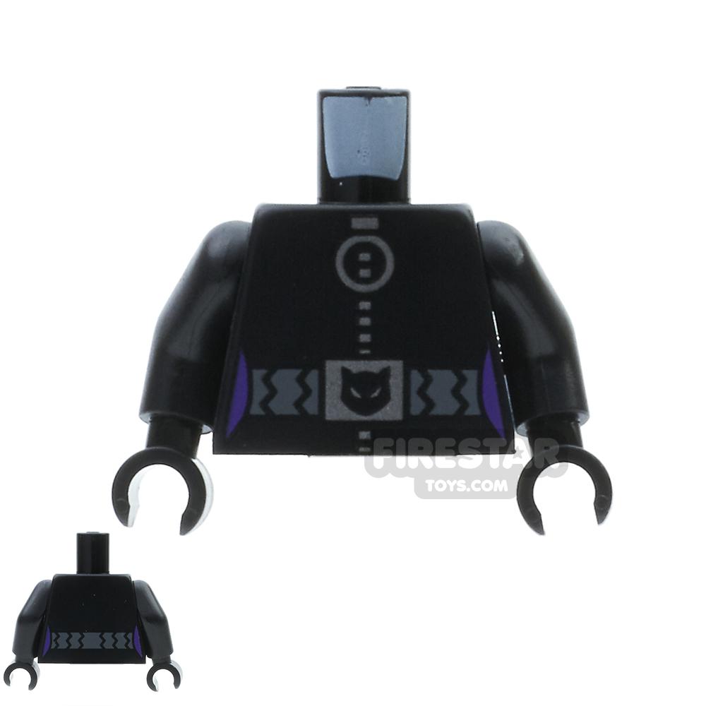 LEGO Mini Figure Torso - Catwoman Silver Zip