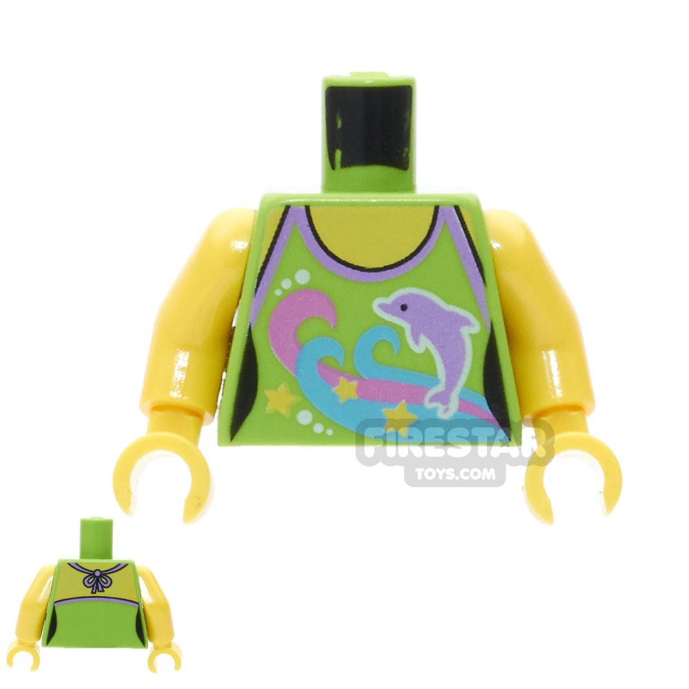 LEGO Mini Figure Torso -  Dolphin Top