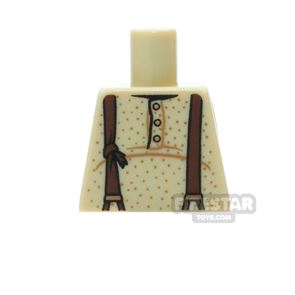 LEGO Mini Figure Torso - Three Buttons and Suspenders - No Arms