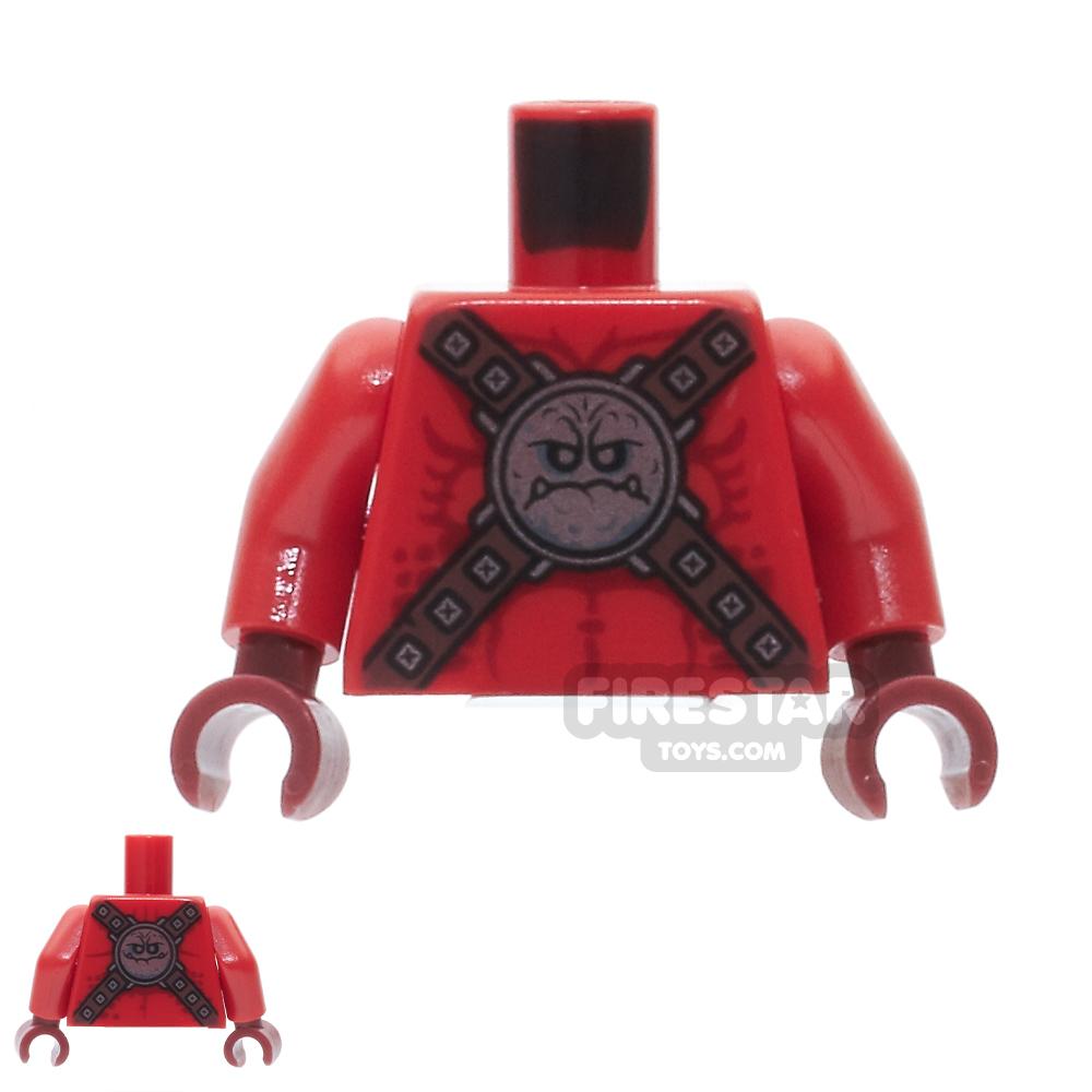 LEGO Mini Figure Torso - Bare Chest with Silver Circular Chest Armor