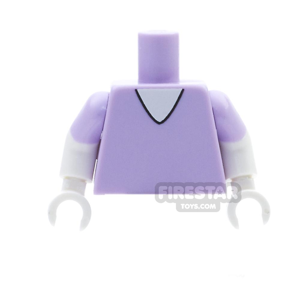 LEGO Mini Figure Torso - Daisy Duck - Lavender