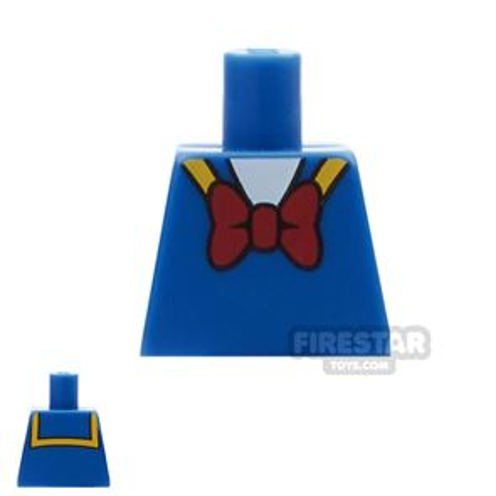 LEGO Mini Figure Torso - Donald Duck - No Arms