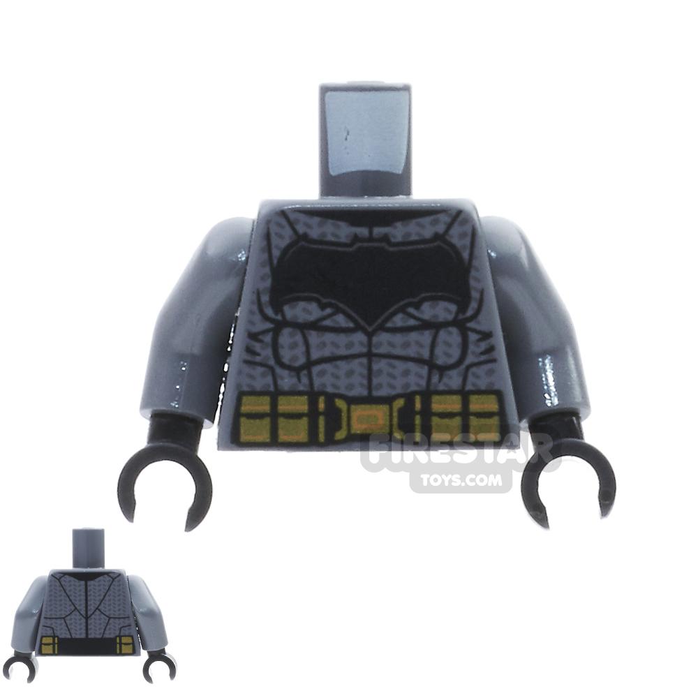 LEGO Mini Figure Torso - Batman,  Large Bat Logo and Gold Belt