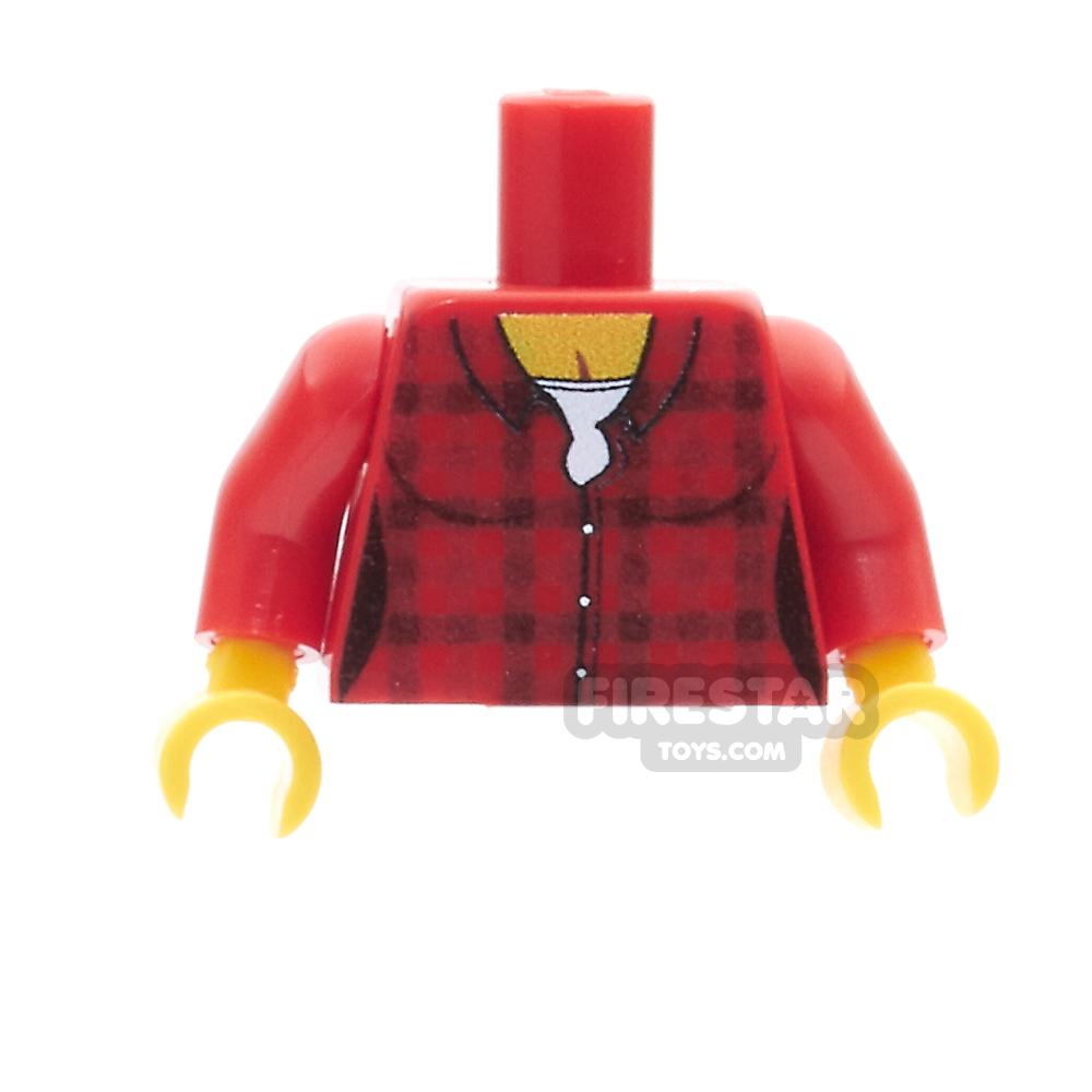 Custom Design Torso - Checked Shirt - Female - Red