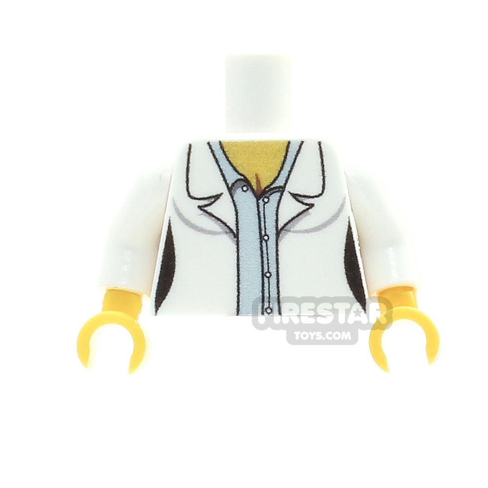 Custom Design Torso - Female Lab Coat - Blue Shirt
