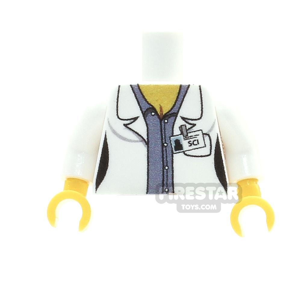 Custom Design Torso - Female Scientist - Blue Shirt