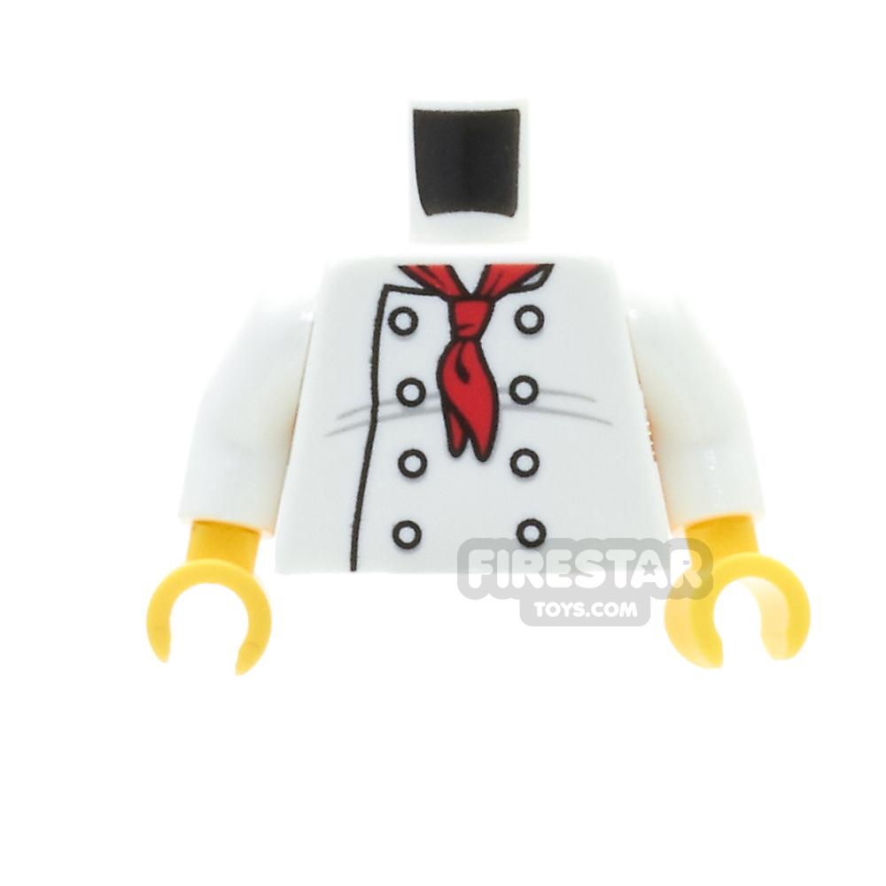LEGO Mini Figure Torso - Chef Torso With Back Printing