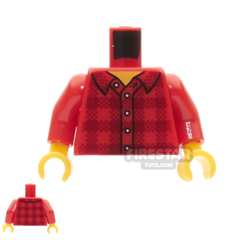 LEGO Mini Figure Torso -  Flannel Shirt