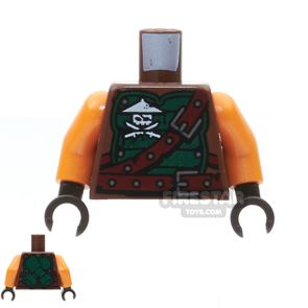 LEGO Mini Figure Torso -  Ninja Skull And Belt Strap