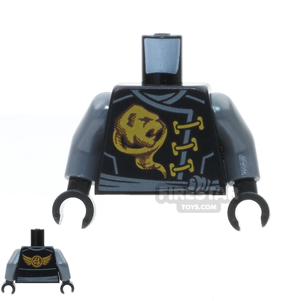LEGO Mini Figure Torso - Ninjago Robe and Gold Ghost Emblem