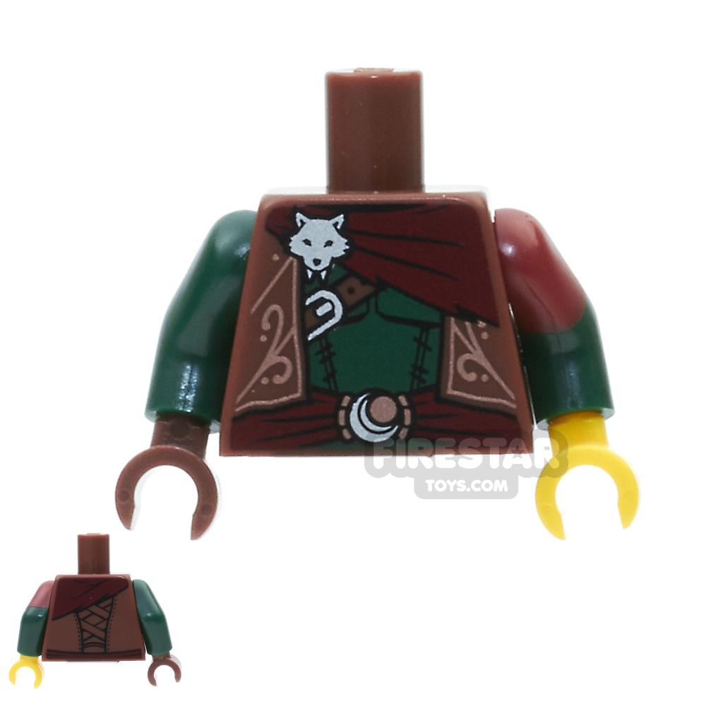 LEGO Mini Figure Torso -  Ornate Vest With Fox Head