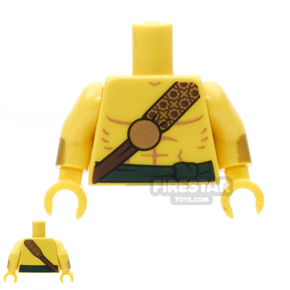 LEGO Mini Figure Torso -  Bare Chest With Gold Strap