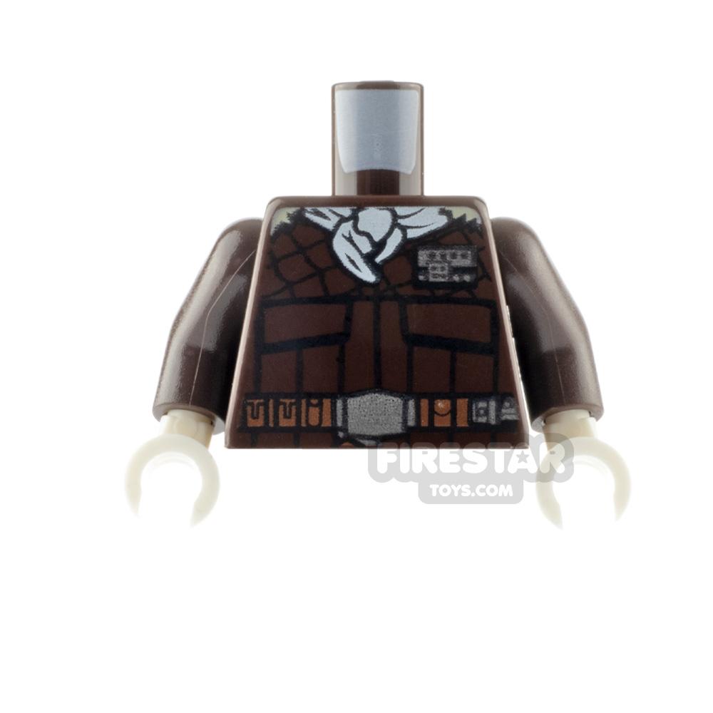 LEGO Mini Figure Torso - White Bandana and Jacket - Han Solo