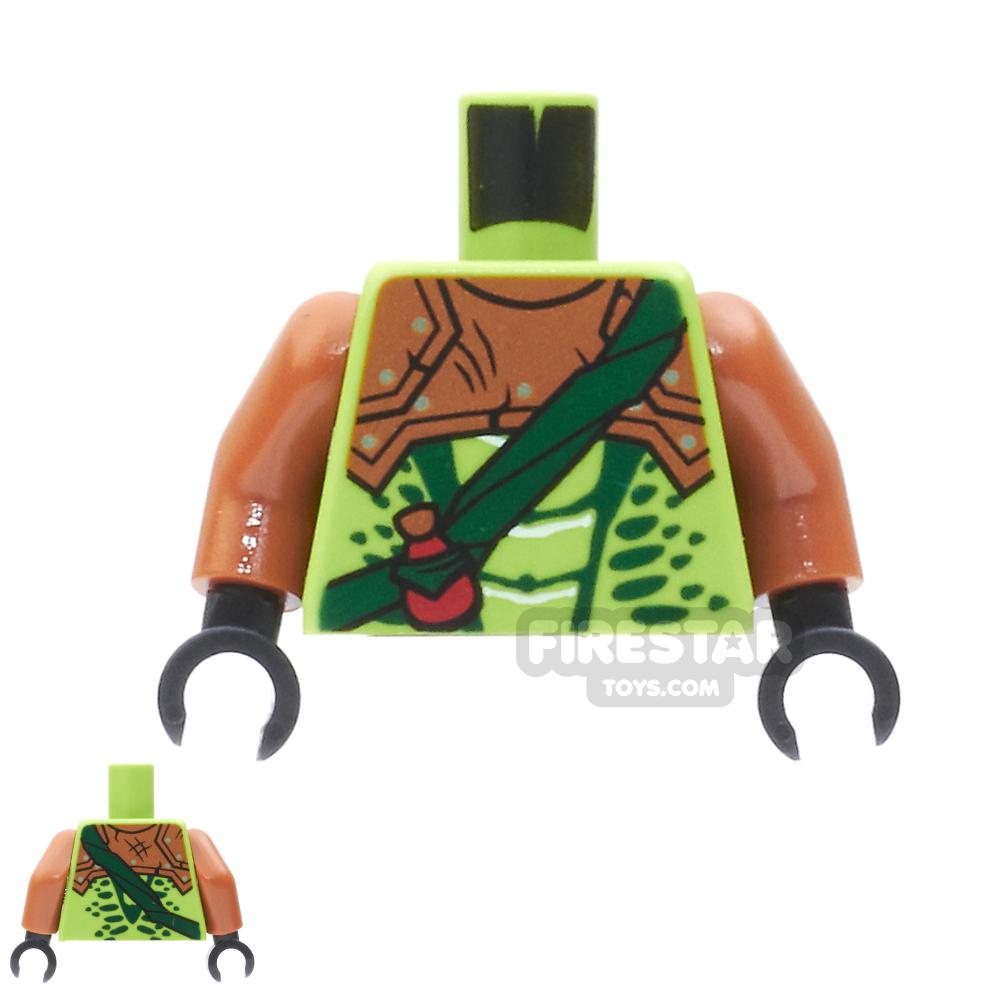 LEGO Mini Figure Torso - Snake with Dark Orange Armour and Crossbelt