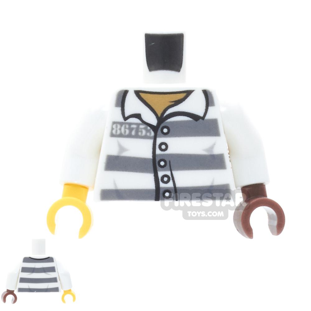 LEGO Mini Figure Torso - Prison Jacket - One Reddish Brown hand